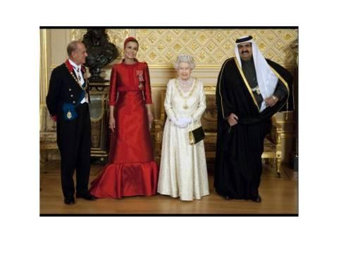 Ο Σείχης και η Σείχισσα Μόζα σε επίσημη επίσκεψη στο Μπάκιγχαμ